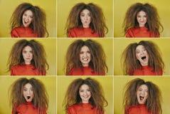 Nove retratos das meninas Foto de Stock