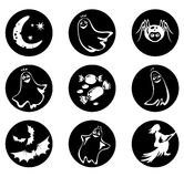 Nove símbolos de Halloween Fotografia de Stock