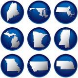 Nove teclas de Estados Unidos Imagens de Stock