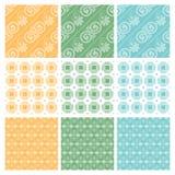 Nove teste padrão elegante de matéria têxtil ou de papel de parede Imagem de Stock Royalty Free