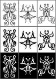 Nove testes padrões de borboletas Fotografia de Stock Royalty Free