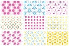 Nove testes padrões repetidos Imagem de Stock