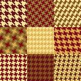 Nove testes padrões de Houndstooth Fotografia de Stock