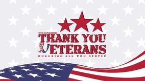 11 noveber veterans day, Thank you veterans illustration with american flag