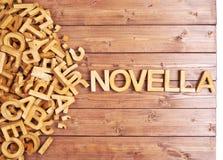 Novela da palavra feita com letras de madeira Fotos de Stock
