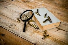 Novela de detetive fotografia de stock