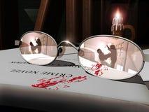 Novela del crimen ilustración del vector