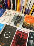 Novelas famosas da literatura inglesa para a venda em livrarias da biblioteca imagens de stock