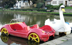 Novelty boats. Seen on Bude canal Cornwall Royalty Free Stock Photo