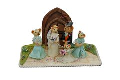 Novelty Cake. A Cake Depicting a Wedding Scene for Mice Royalty Free Stock Photos