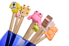 Novelty erasers Stock Photography