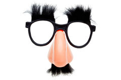 Novelty glasses isoalted on a white background Royalty Free Stock Photos