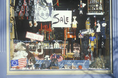 Novelty items in storefront a window, Philadelphia, PA Royalty Free Stock Photography
