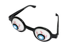 Novelty Spectacles. On Isolated White Background Royalty Free Stock Image