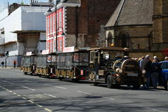 Novelty train ride. In York for tourist guided tours Royalty Free Stock Photo