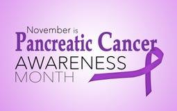 November är medvetenhetmånaden för bukspottkörtel- cancer royaltyfri illustrationer
