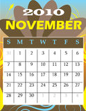 November 2010. Vector Illustration of 2010 Calendar with a monthly, I have all 12 months designed seperately or all 12 months in a single design stock illustration