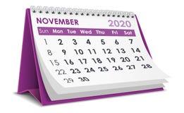 Free November 2020 Calendar Stock Photography - 162987692
