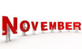 November Stock Foto