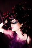 November. Woman portrait - autumnal stylization Royalty Free Stock Image