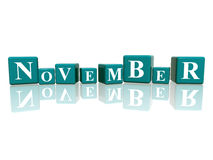 November in 3d cubes Royalty Free Stock Photo