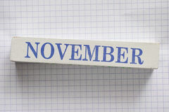 november Stockfotos
