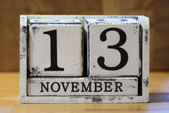 13. NOVEMBER Stockbild