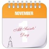 November 1 All Saints Day Stock Image
