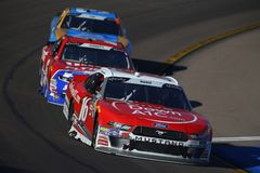 NASCAR: November 10 Whelen Trusted to Perform 200. November 10, 2018 - Avondale, Arizona, USA: Ryan Reed 16 brings his car through the turns during the Whelen royalty free stock image