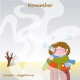 November base calendar to add the days. Base calendar to add the days Royalty Free Stock Photography