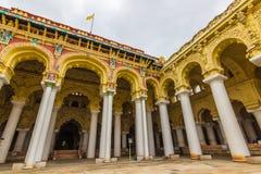 13 november, 2014: Binnen paleis i van Thirumalai Nayakkar Mahal Stock Foto's