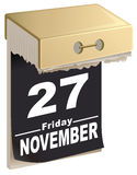 November 27, 2015 Black Friday time of great sales Royalty Free Stock Images