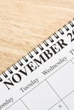November on calendar. Stock Images
