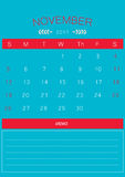 2017 November calendar design simple | colorful modern business Royalty Free Stock Photos