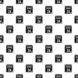 24 november calendar pattern, simple style. 24 november calendar pattern. Simple illustration of 24 november calendar vector pattern for web Stock Photo