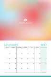 November 2017 calendar. With space for your picture Royalty Free Stock Photography