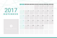 November 2017 calendar Stock Photos