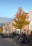 The Centre of Bressanone. Brixen / Bressanone is a town in South Tirol in northern Italy. South Tyrol, Bolzano. Italy. 3 November 2017: The Centre of Bressanone royalty free stock photos
