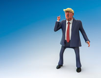 November 12, 2016: Character portrait of Donald Trump. 3D illustration. November 12, 2016: Character portrait of Donald Trump, the 45th president of the United Stock Photo