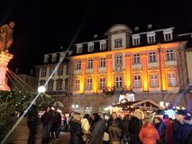 2017 November 29 - Christmas Market in Heidelberg.  Stock Image