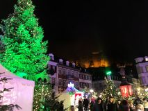 2017 November 29 - Christmas Market in Heidelberg.  Stock Photography
