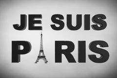 13 November 2015 Concept. Pray for Paris Sign. On a white background stock illustration