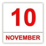 10 november Dag op de kalender Royalty-vrije Stock Foto's