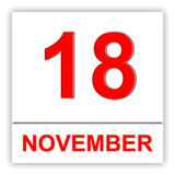 18 november Dag op de kalender Stock Foto