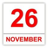 26 NOVEMBER Dag op de kalender Stock Afbeeldingen