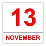NOVEMBER 13 Dag på kalendern Royaltyfri Illustrationer