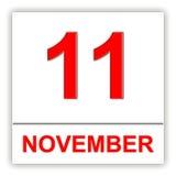 November 11 Dag på kalendern Arkivfoto