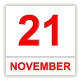 November 21 Dag på kalendern stock illustrationer