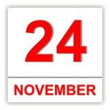 November 24. Day on the calendar. Royalty Free Stock Photos