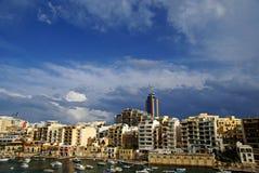 7 November - Day of the cyclone mediterranean in Malta Stock Photo